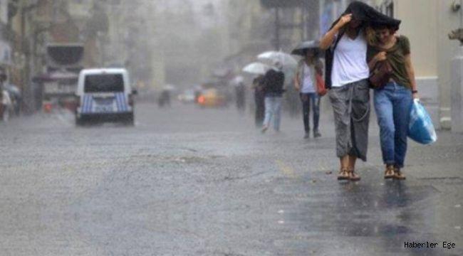 Ege İllerinin hava durumu İzmir, Manisa, Denizli ve Muğla'ya şiddetli yağmur uyarısı!