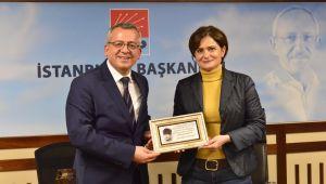TDP İl Başkanı Yusuf Polat 'dan Canan Kaftancıoğlu'na Ziyaret .
