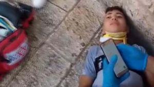 İsrail polisi, bisikletine Filistin bayrağı takan çocuğu yaraladı