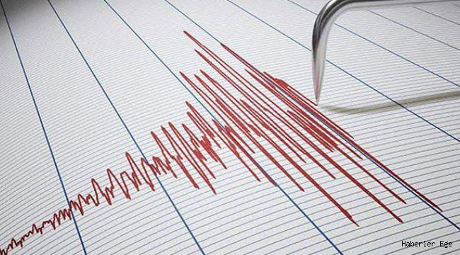 Kuşadası Körfezi'nde meydana gelen depremin büyüklüğü 3.6