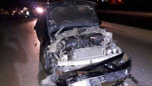İzmir'de otomobil koyun sürüsüne daldı! 7 koyun telef oldu…