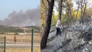 Gaziemir Sarnıç'ta orman yangını!