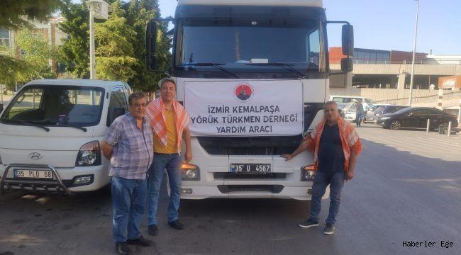 Kemalpaşa Yörük Türkmen Derneğinden Yangın bölgesine destek.