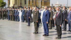 Vali Köşger ve Başkan Soyer Gaziler Günü törenine katıldı
